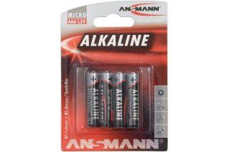 ANSMANN Piles alcalines 5015553 LR03 / AAA blister de 4