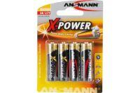 ANSMANN Piles alcalines 5015663 LR6 / AA blister de 4