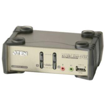 Aten CS1732B kvm 2 ports usb + audio avec 2 ports hub et osd