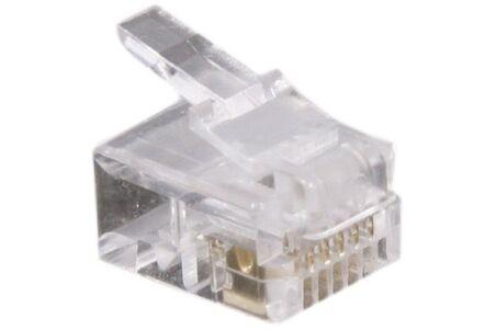 Connecteur à sertir 6P6C RJ12 UTP Téléphonie - lot de 10