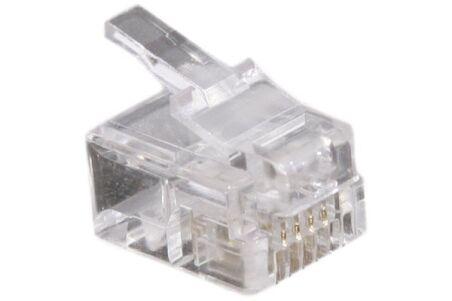 Connecteur à sertir 6P4C RJ11 UTP Téléphonie - lot de 50