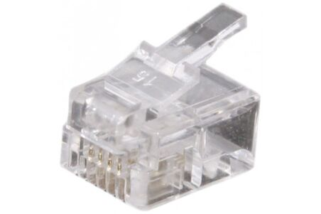 CONNECTEUR 6P4C RJ11 UTP TELEPHONIE - LOT DE 50