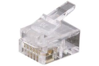 Connecteur à sertir 6P6C RJ12 UTP Téléphonie - lot de 50