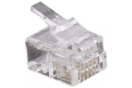 Connecteur à sertir 6P4C RJ11 UTP Téléphonie - lot de 1000