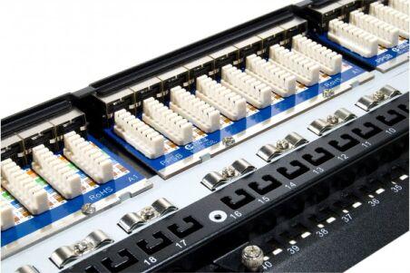 """Panneau 19"""" 1U 48 ports CAT5e stp"""