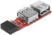 Adaptateur 2 ports USB 2.0 internes sur carte mère