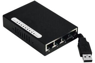 Mini Switch réseau 8 ports 10/100 alimentable par USB