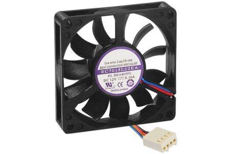 Ventilateur de rechange  - 4 Fils PWM - 70x70x15