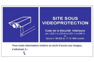 Panneau en PVC pour vitrine de signalisation d'une vidéosurv