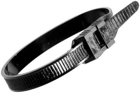 Lien serre-câbles noir nylon 66 - 100 pcs - 180 x 9 mm
