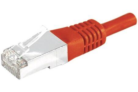 Cordon RJ45 catégorie 6 S/FTP rouge - 0,3 m