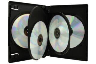 Boitier dvd noir pour 4 dvd pack 3