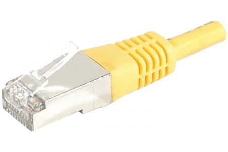 DEXLAN Cordon patch RJ45 S/FTP CAT 6a jaune - 5 m