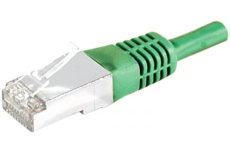 DEXLAN Cordon patch RJ45 S/FTP CAT 6a vert - 10 m