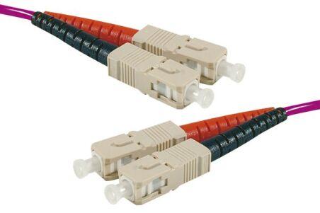 Jarretière optique duplex multimode OM3 50/125 SC-UPC/SC-UPC
