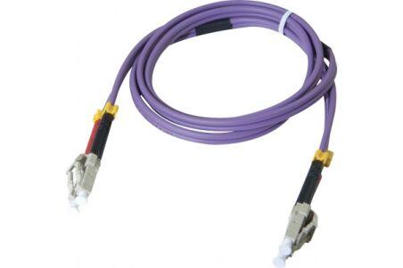 Jarretière optique duplex multimode OM3 50/125 LC-UPC/LC-UPC