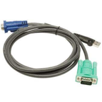 Aten 2L-5202U câble Pieuvre KVM VGA/USB - 1,80M
