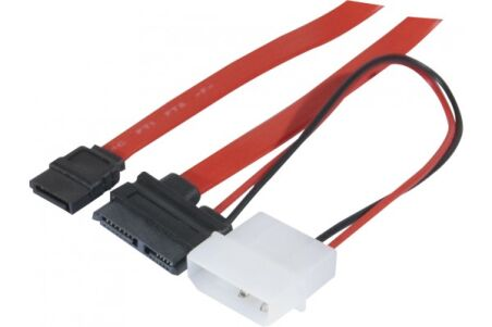 Câble Slim SATA (CD/DVD) vers SATA - 50 cm