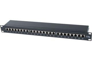 """Panneau 19"""" 1U 24 ports CAT5e STP"""