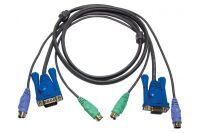 Aten 2L-5002P/C cordon kvm VGA/PS2 - 1,80m
