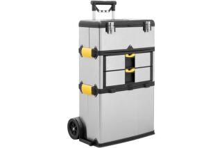 Caisse à outils aluminium sur roulettes