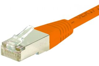 Cordon RJ45 catégorie 6 F/UTP orange - 50 m