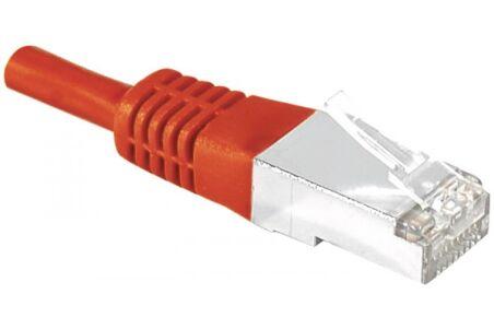 Cordon RJ45 catégorie 6 S/FTP rouge - 15 m