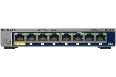 NETGEAR GS108T Switch 8 ports Gigabit manageable Niv.2
