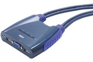 ATEN CS64U Mini KVM  4 UC VGA/USB + Audio câbles intégrés