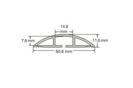 Passage de plancher souple 1,80 m x 51 mm