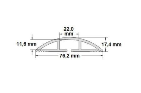 Passage de plancher souple 1,80 m x 76 mm