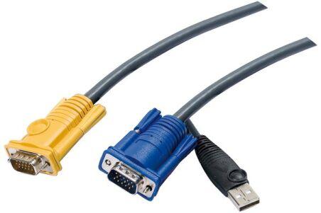 Cable kvm ATEN série 2L-52xxUP - 3.0M