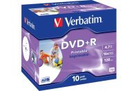 VERBATIM Pack de 10 DVD+R 4.7GB 16x (43508)