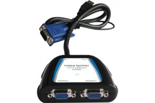 Splitter vga 250MHz 2 voies alim usb +audio 20m