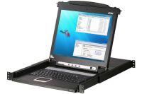 Aten CL1008M console LCD 17' simple rail KVM 8 ports VGA/USB