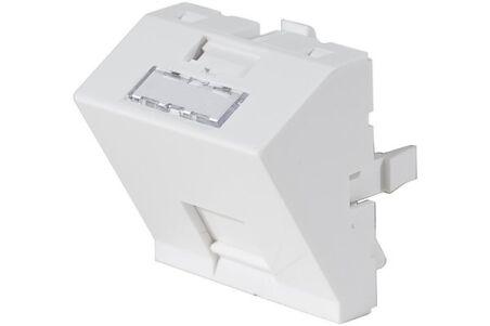 Plastron 45x45 incliné 30° pour 1 port RJ45 keystone