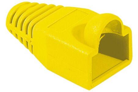 Manchon RJ45 jaune snagless diamètre 5,5 mm (sachet de 10 pcs)
