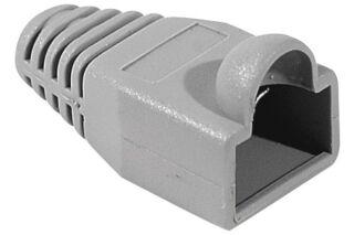 Manchon RJ45 gris snagless diamètre 6 mm (sachet de 10 pcs)