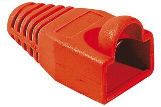 Manchon RJ45 rouge snagless diamètre 6 mm (sachet de 10 pcs)