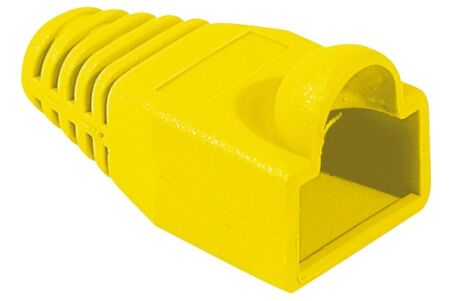Manchon RJ45 jaune snagless diamètre 6 mm (sachet de 10 pcs)