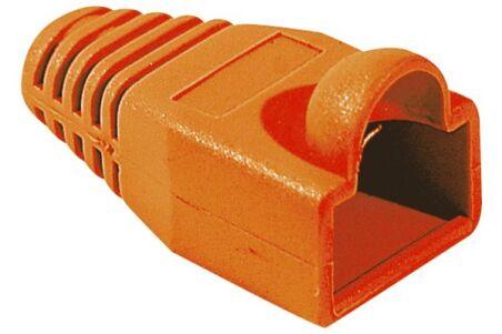 Manchon RJ45 orange snagless diamètre 6 mm (sachet de 10 pcs)