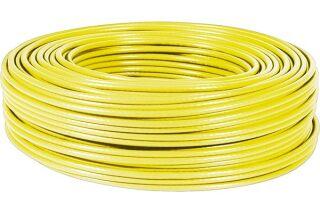 Câble multibrin F/UTP CAT6 jaune - 100 m