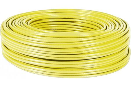 Câble multibrin F/UTP CAT6 jaune - 100 m