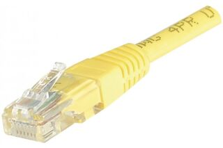 CORDON PATCH RJ45 U/UTP CAT5e Jaune - 0,15 M