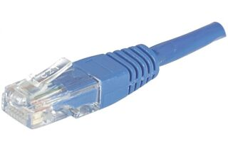 CORDON PATCH RJ45 U/UTP CAT5e Bleu - 0,15 M