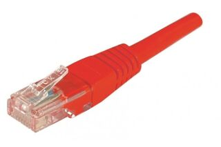 CORDON PATCH RJ45 U/UTP CAT5e Rouge - 0,30 M