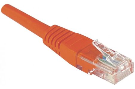 CORDON PATCH RJ45 U/UTP CAT5e Rouge - 5 M