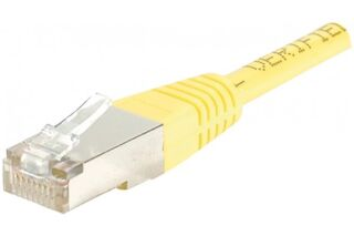 CORDON PATCH RJ45 F/UTP CAT5e Jaune - 0,15 M