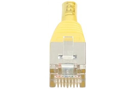 CORDON PATCH RJ45 F/UTP CAT5e Jaune - 10 M