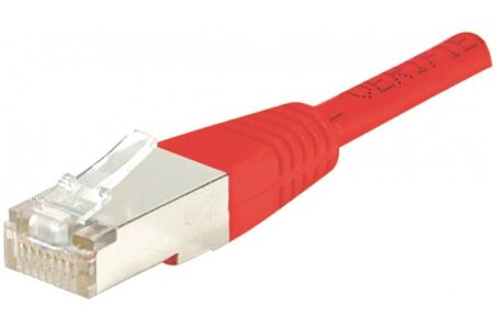 CORDON PATCH RJ45 F/UTP CAT5e Rouge - 0,30 M